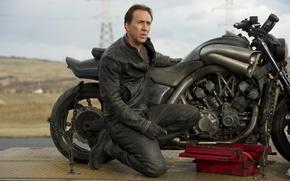 Картинка мотоцикл, Николас Кейдж, Nicolas Cage, Призрачный гонщик 2, Yamaha VMAX, Ghost-Rider-Spirit-of-Vengeance