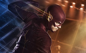 Картинка сериал, The Flash, Grant Gustin, Грант Гастин, супергерой, Флэш, Barry Allen, фантастика, костюм