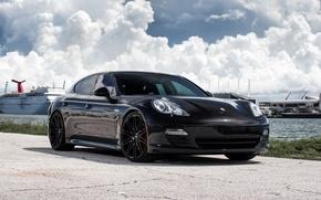 Картинка Porsche, Panamera, Black