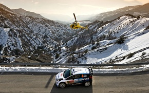 Картинка Ford, Форд, WRC, Rally, Ралли, Вертолёт, Fiesta, Monte Carlo, Ott Tanak