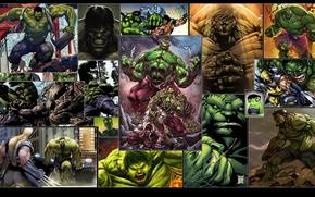 Картинка сила, когти, битва, wolverine, халк, marvel, комикс, супер герои, росомаха, hulk, superheroes