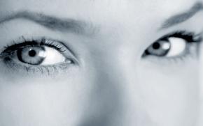 Картинка глаза, взгляд, цвет, Девушка
