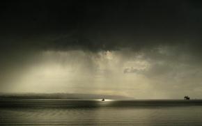 Картинка море, буря, Корабль