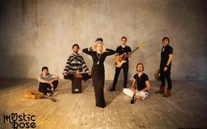 Картинка музыка, гитара, группа, Азиза Ибрагимова, этно, Mystic Rose