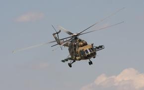 Картинка полет, вертолёт, военно-транспортный, Ми-171