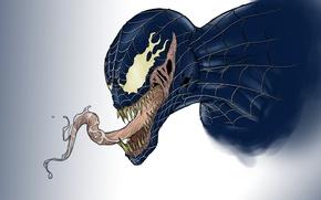 Картинка язык, art, venom