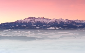 Картинка зима, горы, утро, Карпаты, Татры, Январь