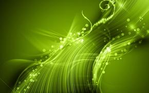 Обои свет, абстракция, зелёный
