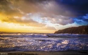 Картинка закат, находка, январь, приморье, впечатляющий, японское море