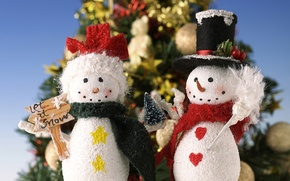 Картинка снеговик, Christmas trees, елки, рождество, New Year, новый год, Christmas, snowman