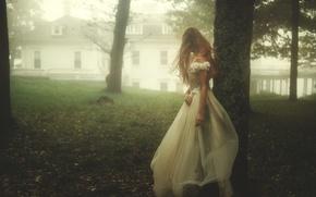 Картинка девушка, туман, платье, TJ Drysdale, Runaway