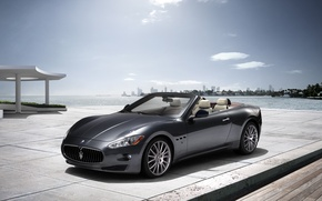 Картинка море, Maserati, Италия, кабриолет, top, back, main, Мазера́ти, main_front