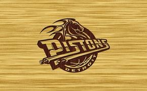 Обои Баскетбол, Логотип, Detroit Pistons, Детройт