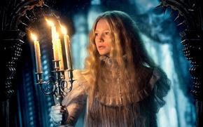 Картинка cinema, skull, horror, ghost, long hair, woman, snow, movie, blonde, film, yuki, actress, candle, chandelier, …