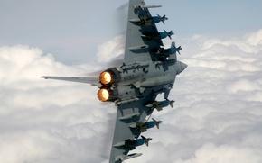 Картинка истребитель, ракеты, fighter