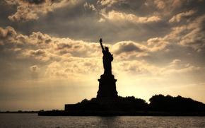 Картинка Нью-Йорк, New York, Statue of liberty, Статуя свободы