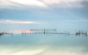 Картинка море, небо, сети