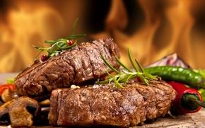 Картинка фото, Перец, Еда, Мясные продукты