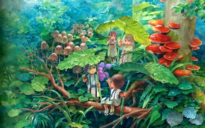 Картинка дождик, детство, фентези, сказка