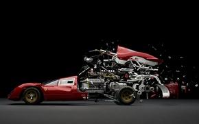 Картинка Ferrari 330 P4, Фабиан Офнер, Disintegrating