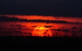 Картинка солнце, закат, красота