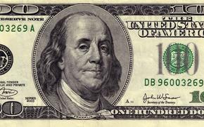 Обои green, money, dollars, 100, Franklin, federal