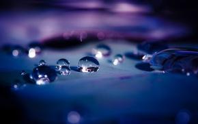 Картинка вода, капли, отражение