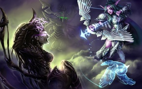 Картинка starcraft, warcraft, sarah kerrigan, Heroes of the Storm, Tyrande, Zagara