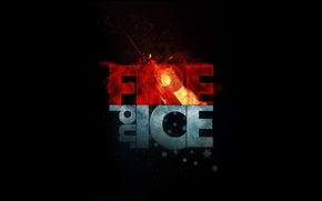 Обои Fire, лед, ice, огонь