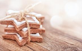 Обои Xmas, Новый Год, выпечка, Merry, сладкое, печенье, глазурь, Рождество, Christmas, cookies, decoration