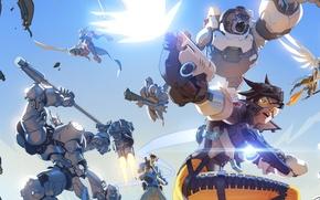 Картинка battlefield, girl, sword, gun, pistol, game, robot, armor, sky, mecha, weapon, war, cloud, wings, katana, …
