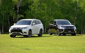 Обои 2015, JP-spec, Mitsubishi, Outlander, аутлендер, мицубиси, PHEV