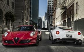Картинка Alfa Romeo, red, white
