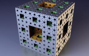 Обои фрактал, куб, Мандельброт