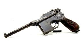 Картинка пистолет, «Маузер», магазинный, Mauser C96