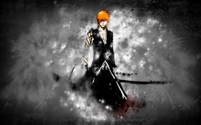 Картинка меч, блич, ichigo, ичиго, bankai