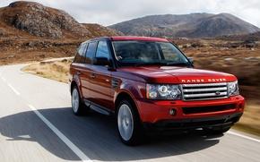 Картинка горы, Красный, Land Rover