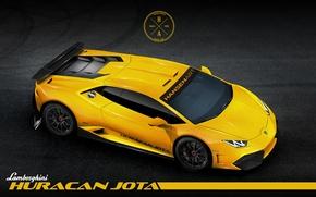 Картинка Lamborghini, Car, Race, Yellow, Huracan, LP610-4, Hansen ART, Jota