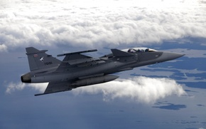 Картинка небо, самолет, боевой перехватчик
