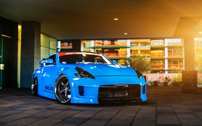Картинка car, blue, tuning, nissan 370z