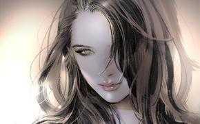 Картинка девушка, крупный план, улыбка