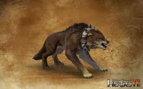 Картинка арт, art, герои меча и магии 7, Might & Magic 7, Альянс Света, Жуткий волк