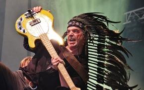 Картинка гитара, перья, гитарист, рок, музыкант, роуч
