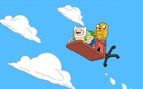 Обои Jake, Finn the human, Финн, Adventure time, время приключений, Джейк