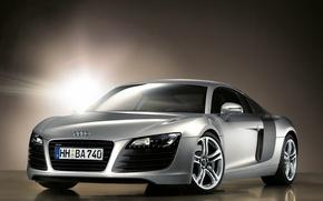 Картинка свет, отражение, серебристый, Audi R8