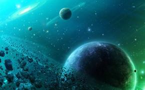 Обои планеты, 156, пояс, астероиды