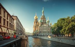 Картинка Санкт-Петербург, Russia, питер, St. Petersburg, Aleksandr Bergan, река мойка, Храм Спас на Крови