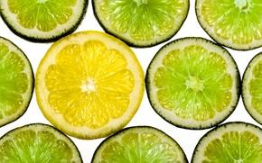 Картинка макро, лимон, лайм, цитрусы