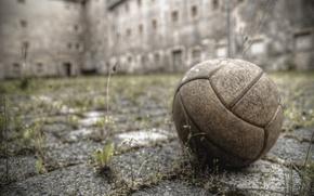 Картинка спорт, мяч, двор