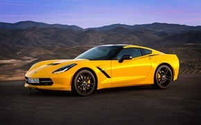 Обои 2013, chevrolet, corvette, stingray, coupe, eu-spec, c7